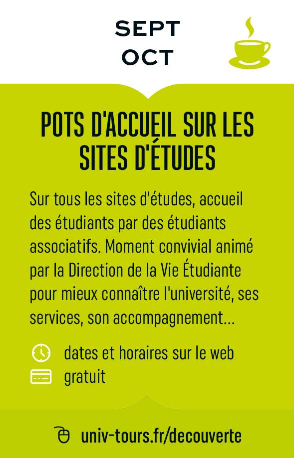 Pots d'accueil sur les sites d'études