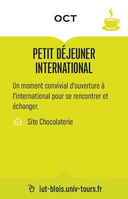 PETIT DÉJEUNER INTERNATIONAL