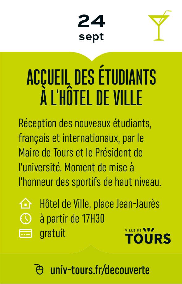 Accueil des étudiants à l'hôtel de ville