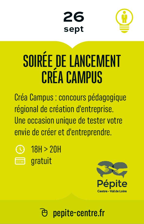 Soirée de lancement créa campus