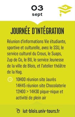 JOURNÉE D'INTÉGRATION