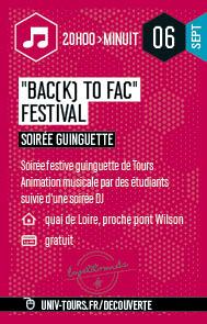 Soirée guinguette Bac(k) to fac festival