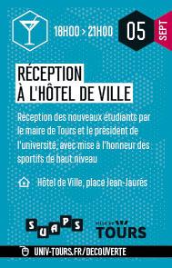 Réception des étudiants à l'hôtel de ville
