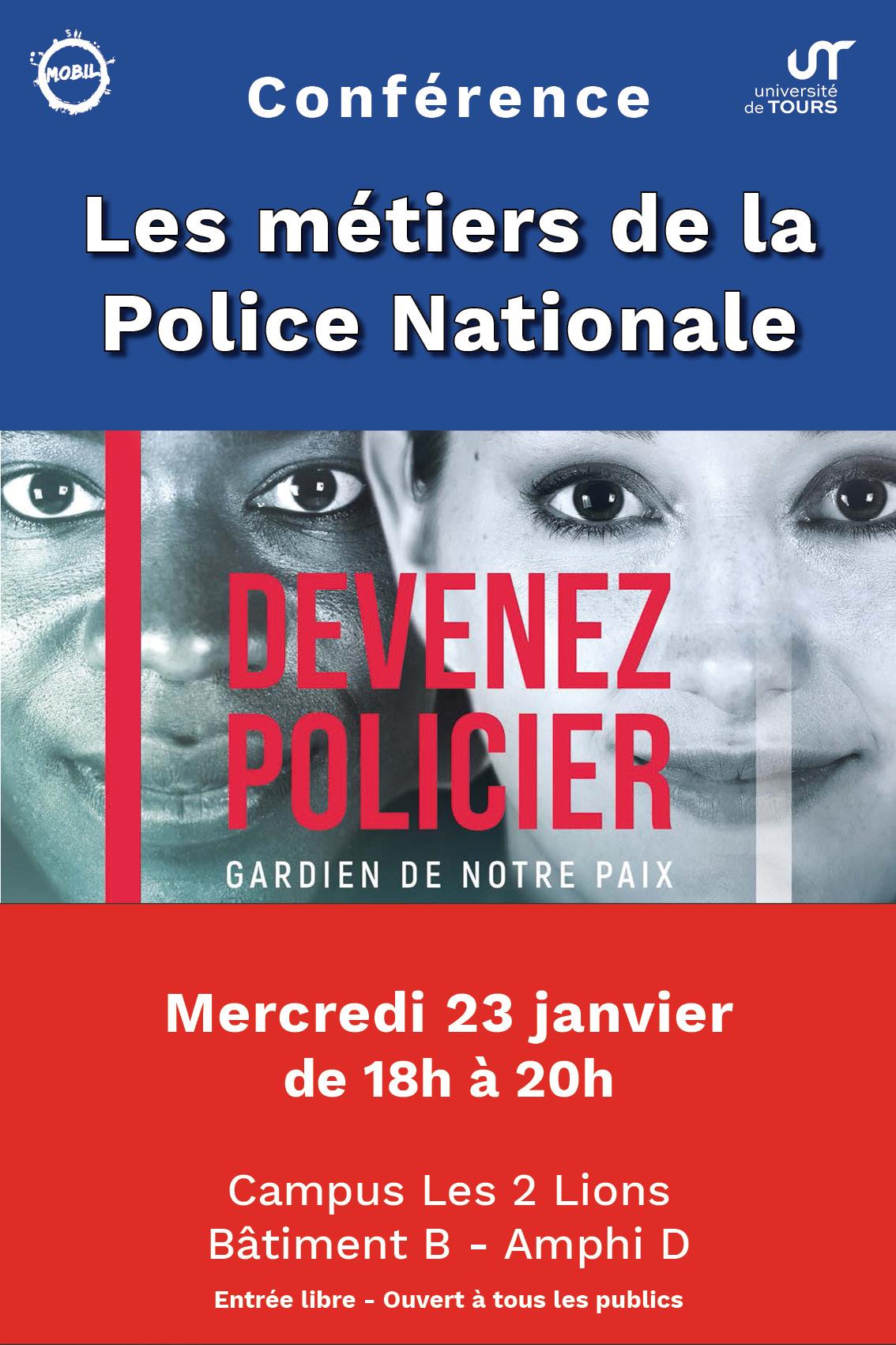 Conférence métiers de la police nationale
