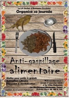 "Affiche "" anti-gaspillage alimentaire"""