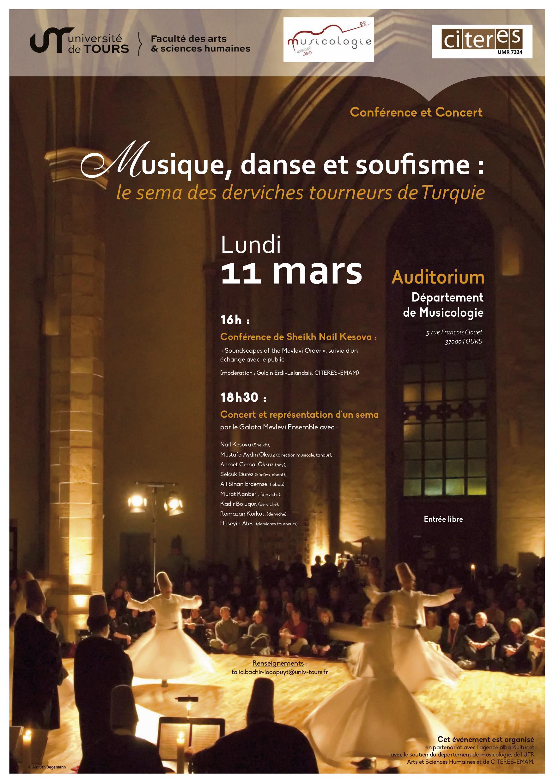 Affiche musique, danse et soufisme
