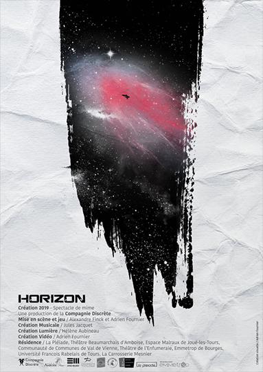 Affiche du spectacle Horizon de la Cie Discrète