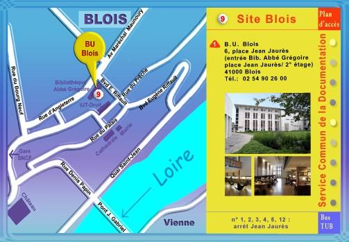 Plan du SCD à Blois