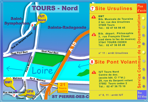 Plan SCD - site Ursulines et site Pont-Volant