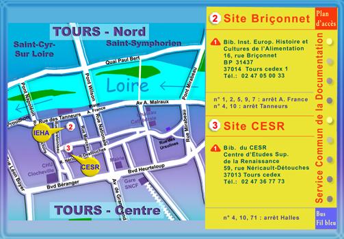 Plan SCD - site Briçonnet et site CESR