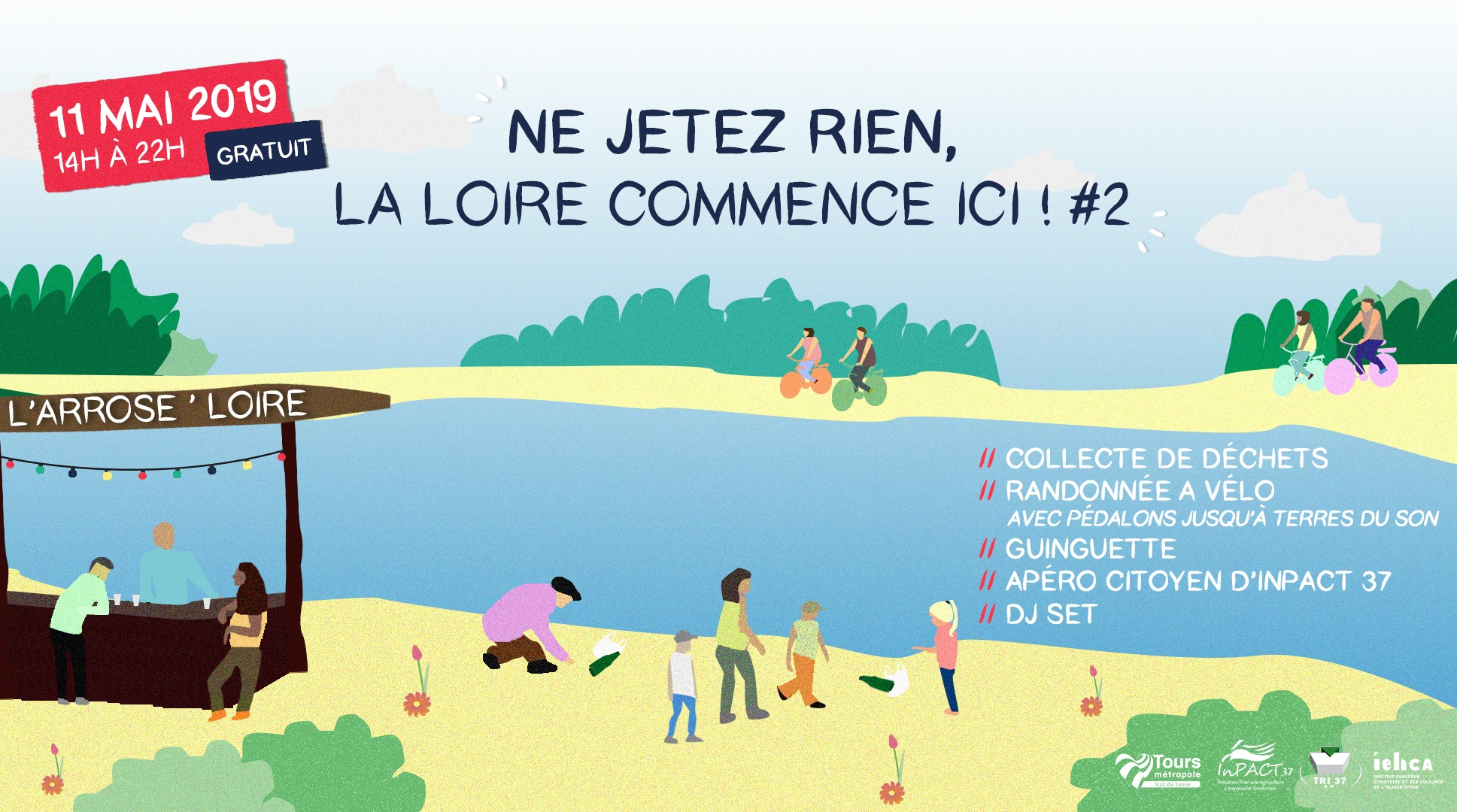 """Ne jetez rien la Loire commence ici !"" 11 mai 2019"