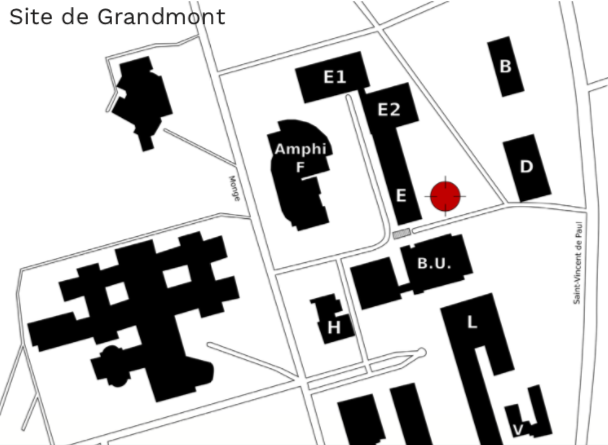 Plan du site de Grandmont