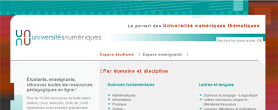 Portail des Universités numériques thématiques